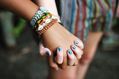 (brianbeckwith) Tags: girls friends summer cute hands friendship explore fist clutch bracelets nailpolish hold holdhands