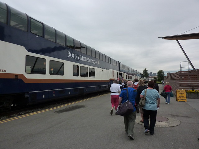 Boarding the Rocky Mountaineer