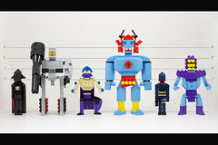 Plastic Villains (The Usual Suspects) (powerpig) Tags: lego tshirt darthvader megatron skeletor mummra shredder cobracommander miniland plasticvillains