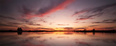 Hunter Sunset (J.Shultz Photography) Tags: new sunset sun lake reflection water silhouette set wales clouds river newcastle landscape town stream terrace south australia nsw land newsouthwales hunter raymond aus scape clarence waterscape seaham heatherbrae maitland tarro woodberry gresford hunterriver raymondterrace upperhunter vacy beresfield clarencetown