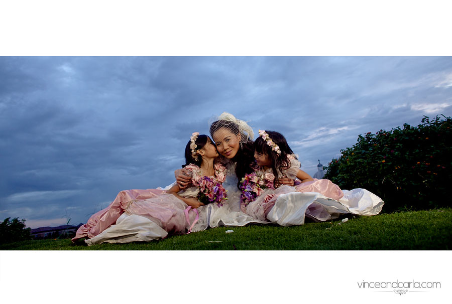 mai with flower girls