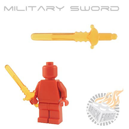 Military Sword (of Fire) - Trans Orange