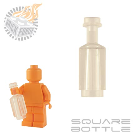 Square Bottle - Trans Clear