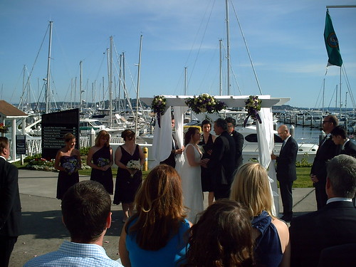 Wedding Ceremony by Wedding Ministers and Officiants at Seattle WA wedding venue Palisades