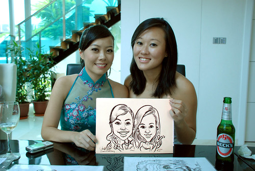 caricature live sketching for wedding solemnisation - 8