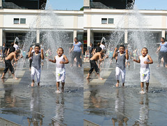 3D Bristol water boys (3D shoot) Tags: wet water bristol stereoscopic stereophoto stereophotography 3d play stereo parallel spash stereoscope atbristol parallelview 3dshoot