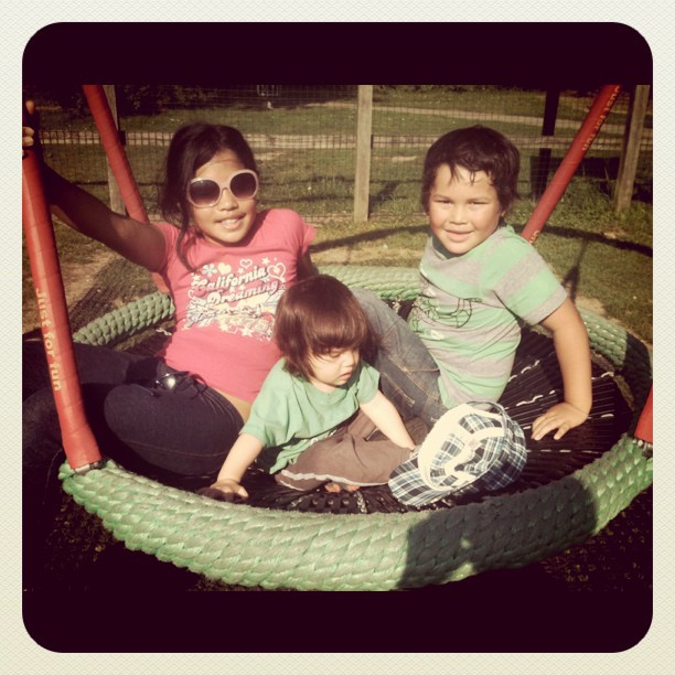 My babies at d park this afternoon