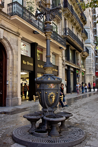 Drinking fountain in Barcelona