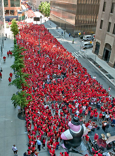Sea of Red at the Verizon Rally