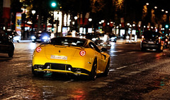 599 GTB by Novitec Rosso ([ JR ]) Tags: paris car yellow night jaune canon eos is d champs elysées jr ferrari exotic 200 17 panning rosso rare supercar f4 qatar gtb v12 550 599 fiorano novitec