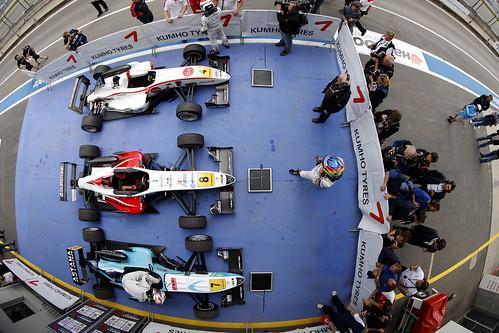 Podio 1ª Carrera F3 Euroseries 2011 Circuito Nürburgring