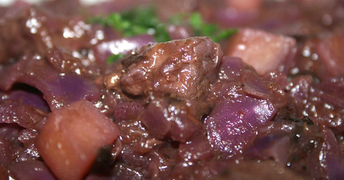 32 - Lamm-Rotkohltopf / Lamb red cabbage stew - CloseUp