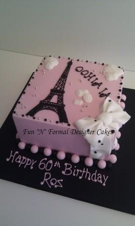 Fine Paris Themed Birthday Cake A Photo On Flickriver Funny Birthday Cards Online Fluifree Goldxyz