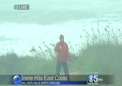 Live report on Hurricane Irene
