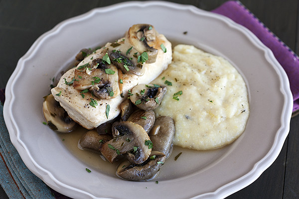 Braised Chicken with Mushrooms and Oven-Baked Polenta - Handle the ...
