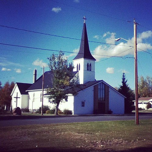 100 yr old Luthern church in town