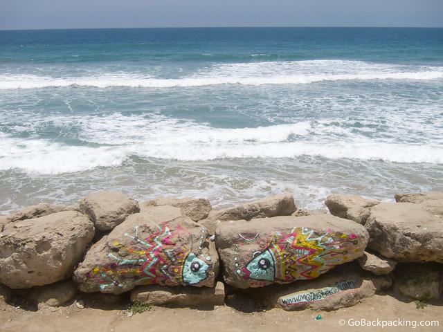 Ocean view from Hostal Mochica Sumpa