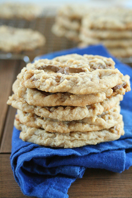 Chewy Caramel Kiss Peanut Butter Cookies | Lauren's Latest