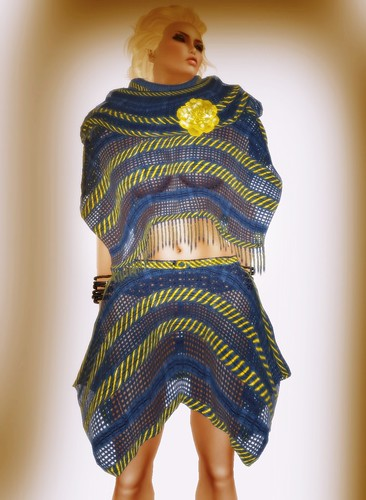 [Coming Soon] A&A Fashion Poncho Skirt Set Blue Yellow
