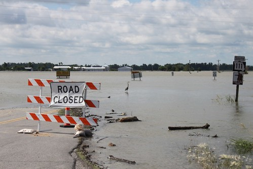 Flooding devastation  in Missouri put farmland underwater.