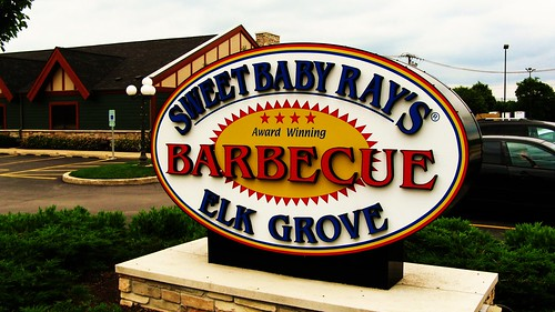 Sweet Baby Ray's Barbecue Restaurant. Located at 800 East Higgins Avenue in Elk Grove Village Illinois USA. by Eddie from Chicago