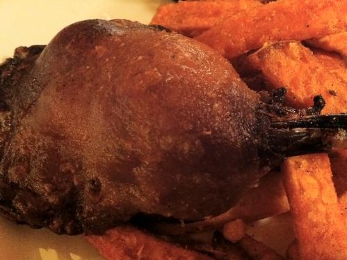 鴨肉のコンフィ