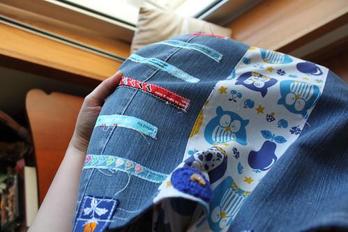 XXL Owlmania Bag (com roseta em crochet!)
