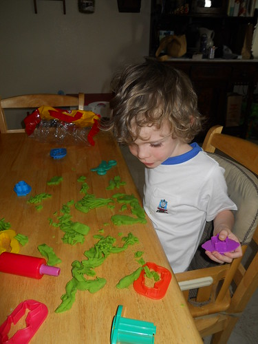 Guy Playing w/ Play-Dough