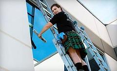 window cleaner (kilt4142) Tags: kilt legs knees kilts tartan kilted upkilt