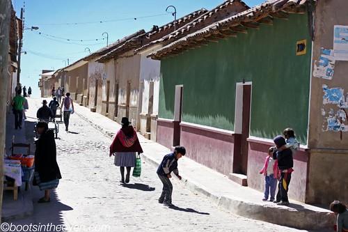 Tarabuco - heading away from the tourist market