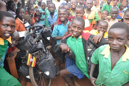 Colourful characters: Ugandan school children