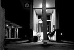Stazione (Mr.Pitone) Tags: portrait people blackandwhite bw italy selfportrait blackwhite italia liguria bn uomo stazione ritratto biancoenero framura spezia bnritratto bncittà bnpersone bnscorci