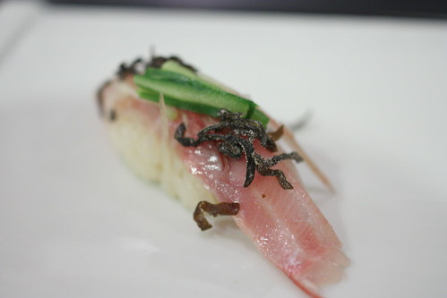 Isaki (Striped Pigfish with Kombu and Japanese Ginger Root)