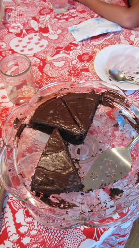 what's left of my birthday cake