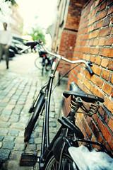 La Protagonista II (oo Felix oo) Tags: street travel viaje ladrillo bike denmark calle bokeh bici block brooks dinamarca copenague kobenhavn felixmartinez felmar