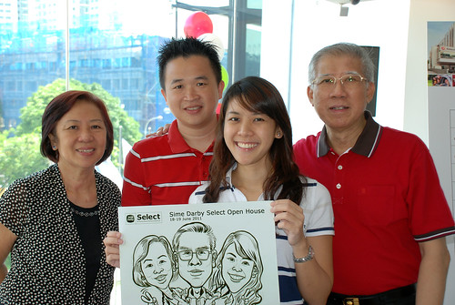 Caricature live sketching for Sime Darby Select Open House Day 2 - 9a