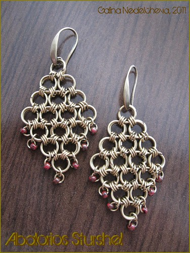 Pendientes Chainmaille Bronce
