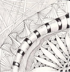 06-23-2011 (Blind Squirrel Photo Safari) Tags: art tile drawing hobby doodle tangle zentangle