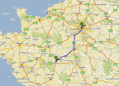 Journey from Tours to Paris