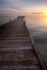 Anna Maria Island City Pier, Florida. (Matt Currier Photography) Tags: ocean wood city morning anna sun water clouds sunrise canon island pier florida maria 5d fl 24mm hdr tse