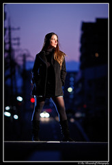 Veronica on the road (Ilko Allexandroff (a.k.a. sir_sky)) Tags: road light portrait people woman white black slr art girl fashion umbrella canon dark hair photography lights google interesting glamour women traffic emotion bokeh good feminine awesome flash explore more most kobe portraiture mostinteresting osaka dslr unforgettable 135mm   sannomiya   naniwa ilko  50d   strobist canon50d   beautyshoots allexandroff   imghp