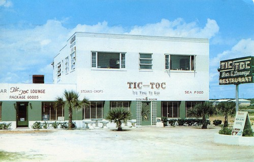 Tic-Toc Cocktail Bar Restaurant Pit Bar-B-Que and Package Store Daytona Beach FL
