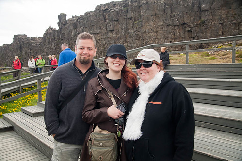 Will, Amber, and Noelle At Þingvellir