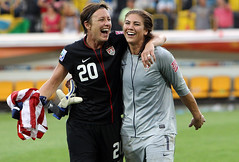 Abby Wambach & Hope Solo - Martin Rose/Getty