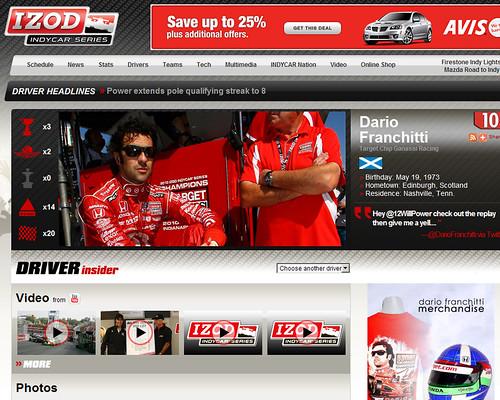 Dario Franchitti's IndyCar Driver Page