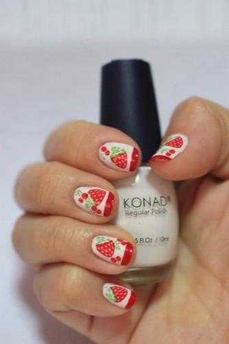 Of Strawberries & Cherries Nail Art