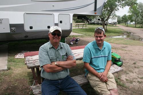 Rick Sugden and Leon visit