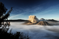 "Mount Bromo After The Sunrise (Mayanda ""Grizzly"" Widayana) Tags: park blue sky beautiful beauty clouds sunrise indonesia grey volcano java nikon asia south east mount exotic national nd after mm gunung jawa timur bromo semeru active cpl tengger stratovolcano gradual 1735 kenko d90 50faves 40faves berapi 70faves probolinggo kokaii pro1d natureselegantshots"