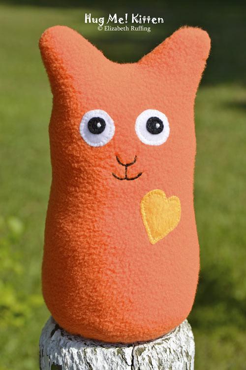Orange fleece Hug Me Kitten by Elizabeth Ruffing
