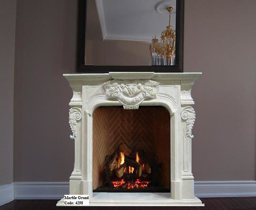 Marble Fireplace Mantel-MarbleGrand Code 4298